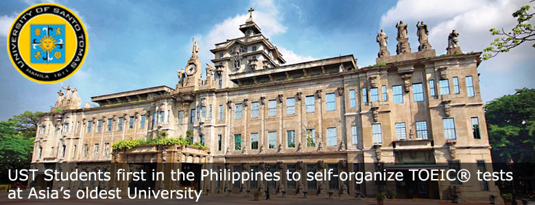 ust self organize banner. UST Students Self-organize TOEIC Tests at Asia's Oldest University